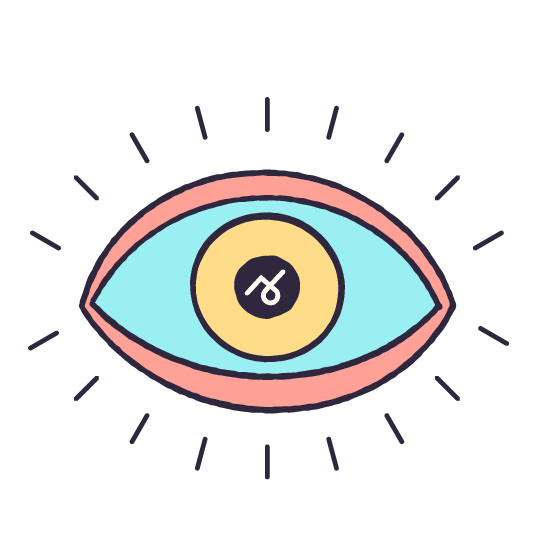 An illustrated eye with the Story 2 logo in the center.